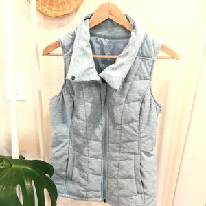 The North Face Blue quilted vest Size S